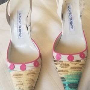 *PRE LOVED* Manolo Blahnik Multi colored Heels